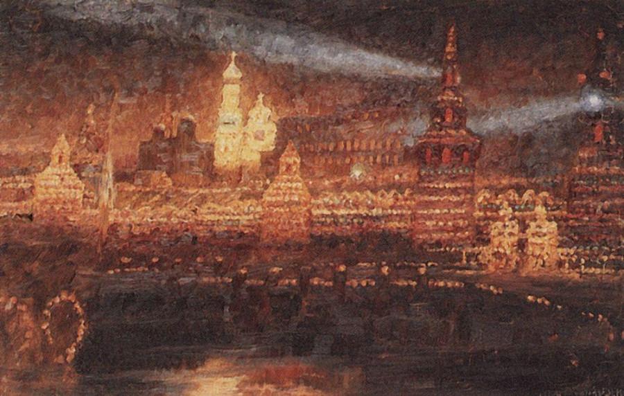 Иллюминация Москвы. 1882