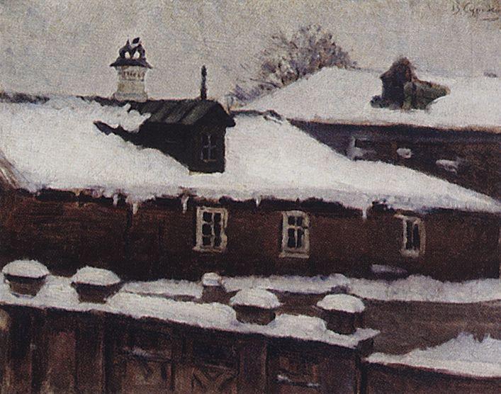 Крыши зимой. 1880-е