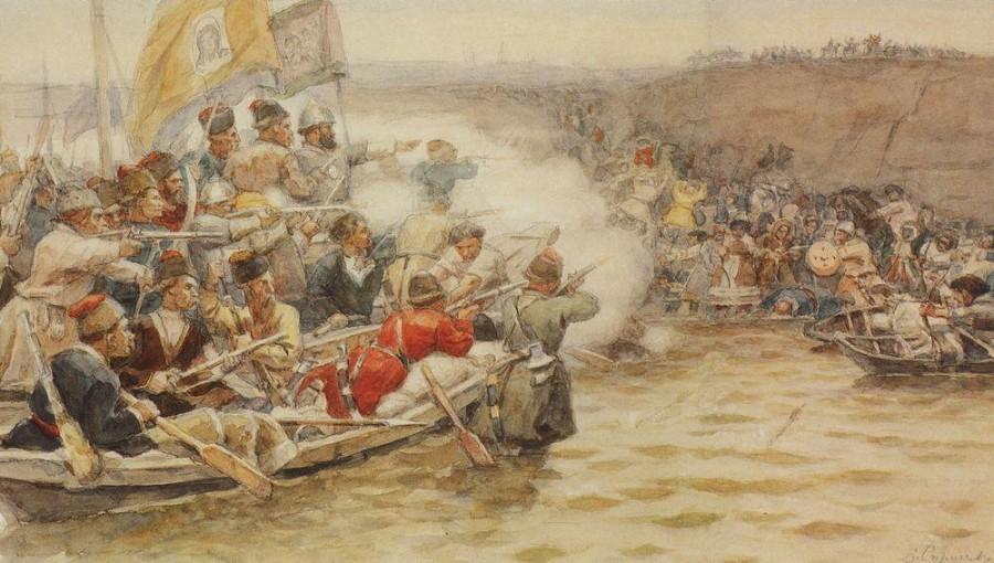 Покорение Сибири Ермаком. 1892