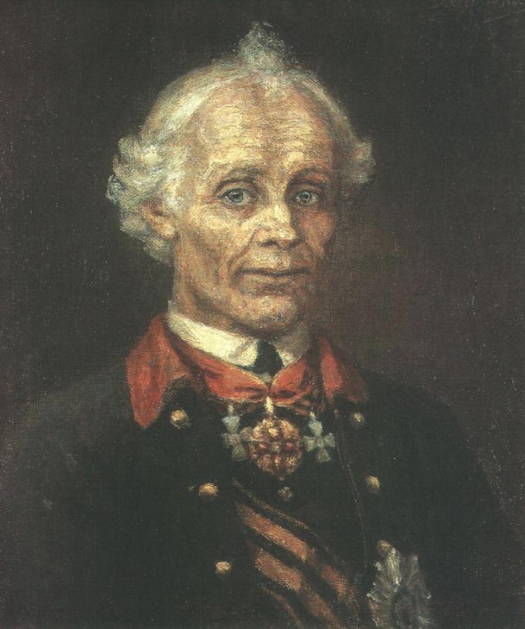 Портрет А.В.Суворова. 1907