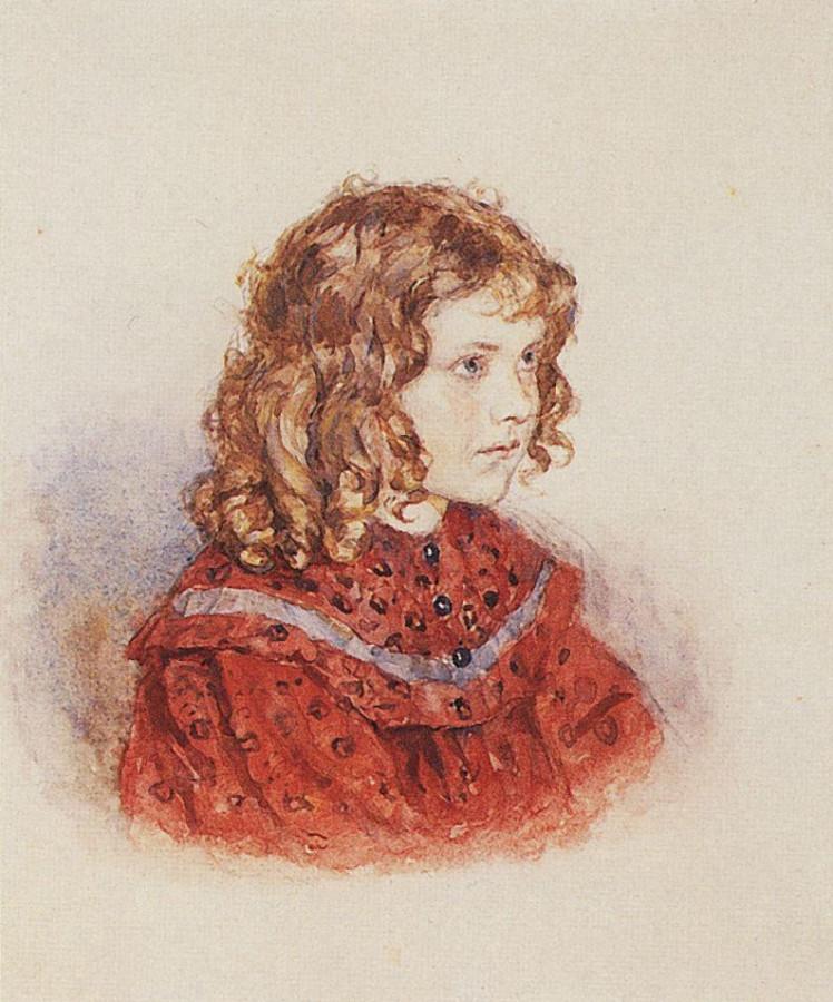Портрет девочки в красном платье. Не позднее 1896