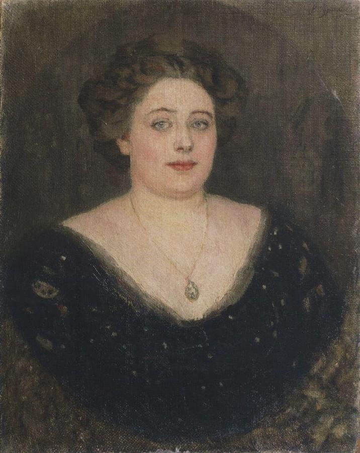 Портрет О.М.Величкиной, урожденной баронессы Клодт фон Юргенсбург. 1914