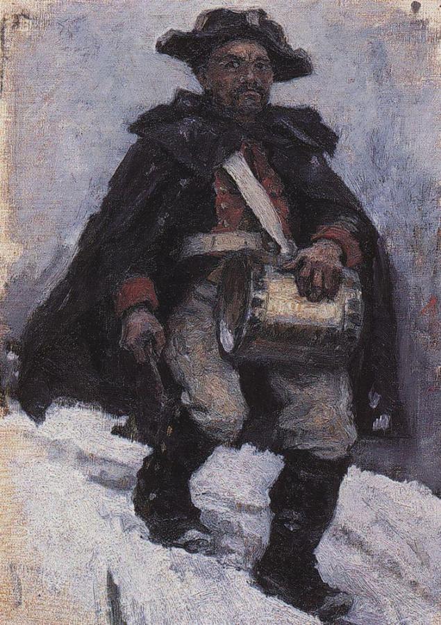 Солдат с барабаном. 1898