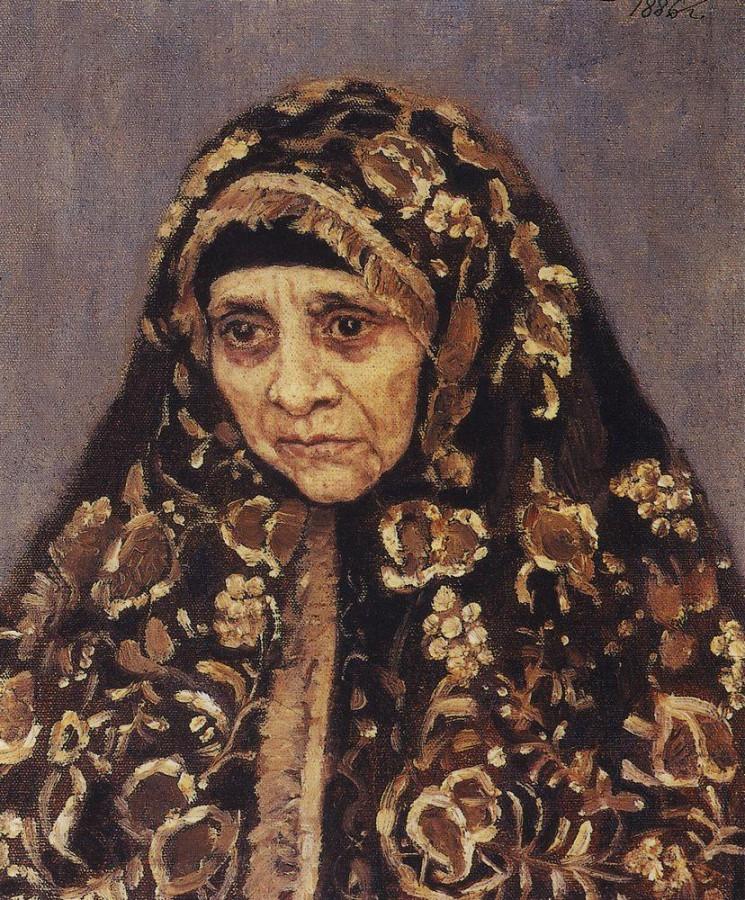 Старуха в узорчатом платке. 1886
