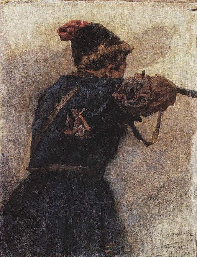Стреляющий казак. 1890-е