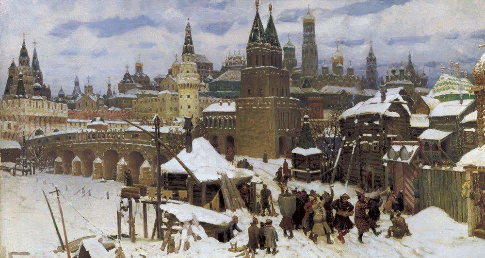 Всехсвятский каменный мост. Конец XVII века. 1901