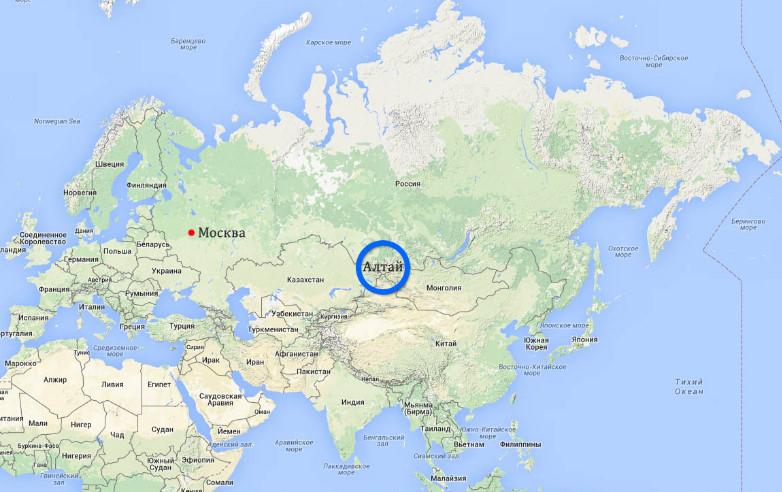 Алтай где находится