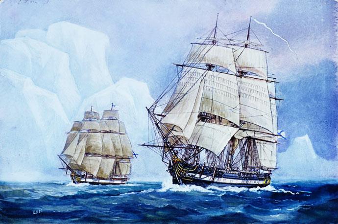 Беллинсгаузен и лазарев открытие антарктиды доклад кратко 8398