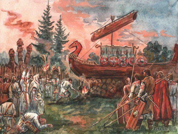 Древнеславянские похороны. Погребения у славян