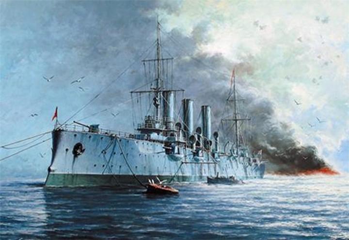 24 Мая 1900 - спущен на воду бронепалубный крейсер «Аврора», будущий символ Октябрьской революции.