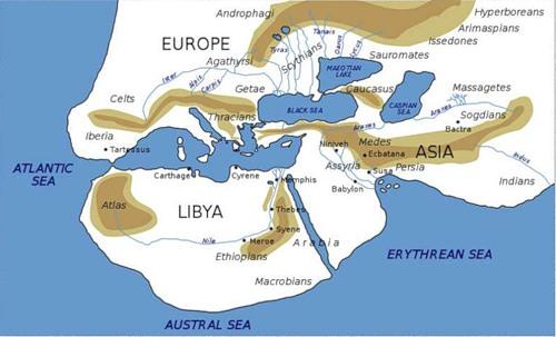 Карта-мира-Геродота.