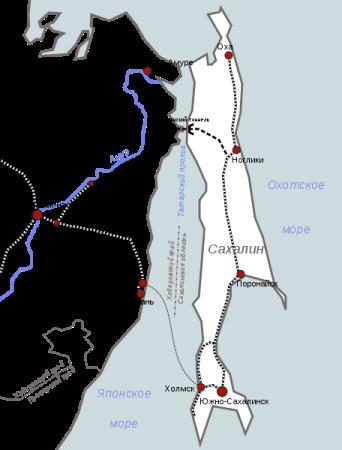 1945.-Тоннель-на-Сахалин
