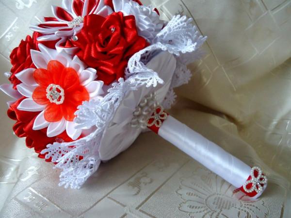 Канзаши для свадьбы своими руками