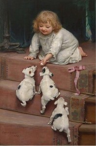 Arthur John Elsley  Ребенок на лестнице_