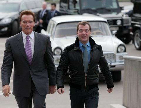 Шварцнейгер и Медведев