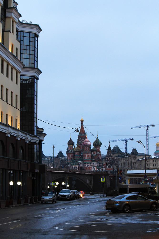 Moscow. Along Balchug street