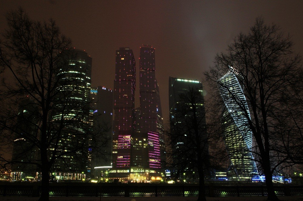 Night Moscow-City