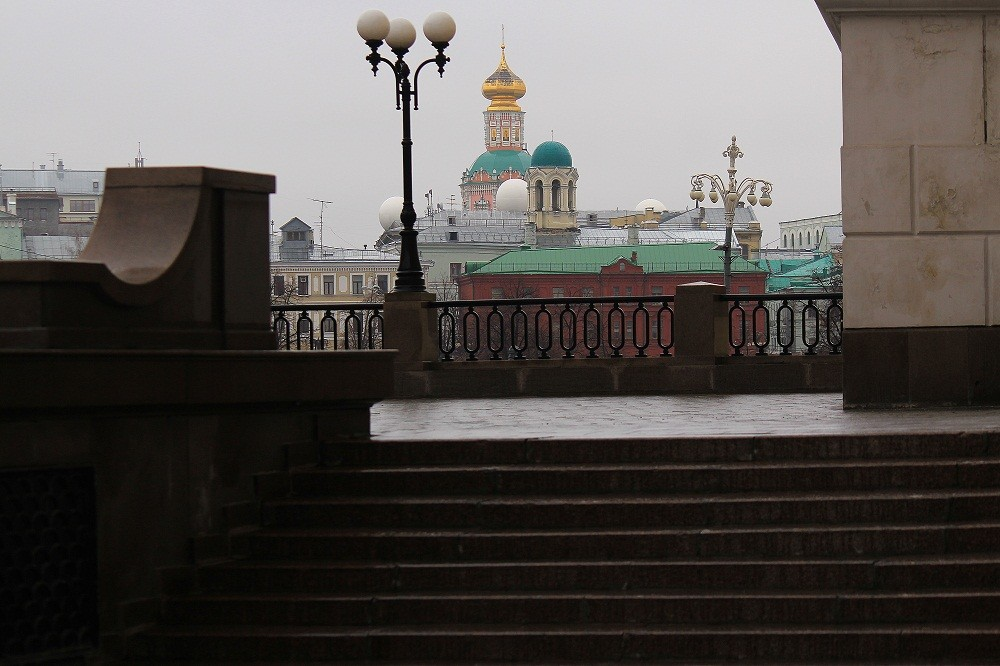 Observation deck at Teatralnaya square