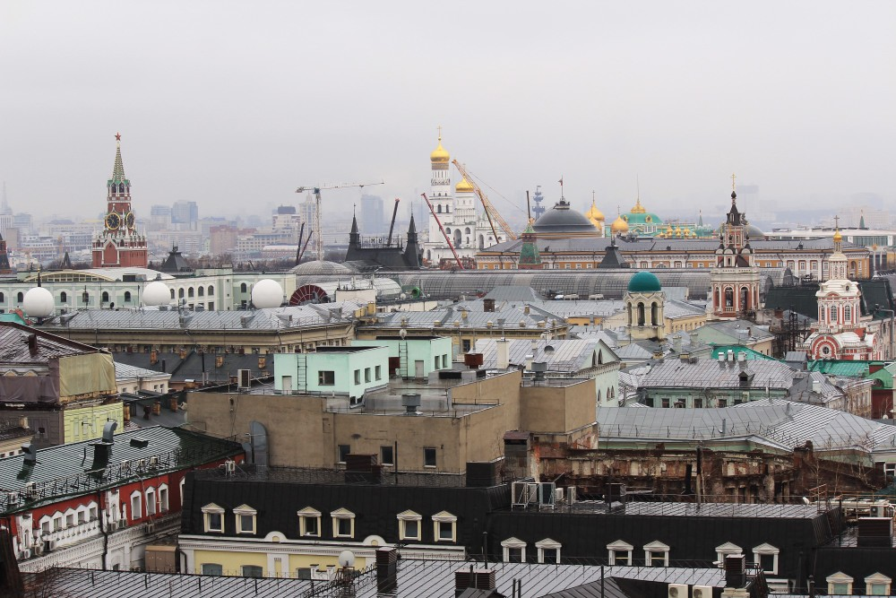 Moscow. Observation deck of the Central Children's Store