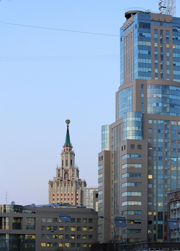 Moscow. The postcards with the Stalinist skyscrapers