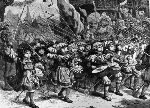 Первый поход детей