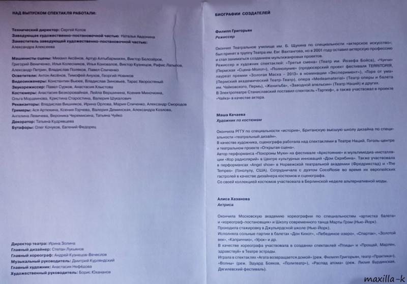 Сияние Электротеатр Станиславский программка