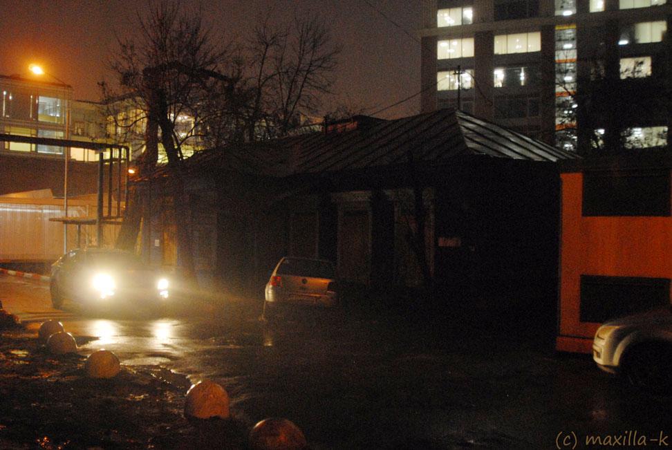 Последний деревянный домик в Спартаковском переулке