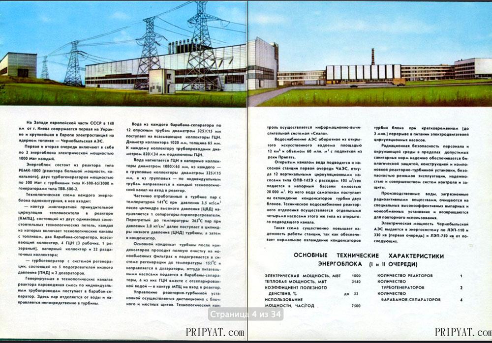 Раритетный буклет про Чернобыльскую АЭС. 03