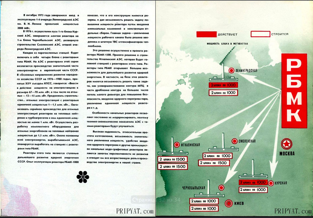 Раритетный буклет про Чернобыльскую АЭС. 17