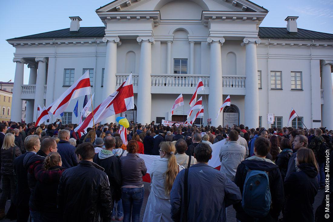Минск, акция против российских авиабаз (фото).
