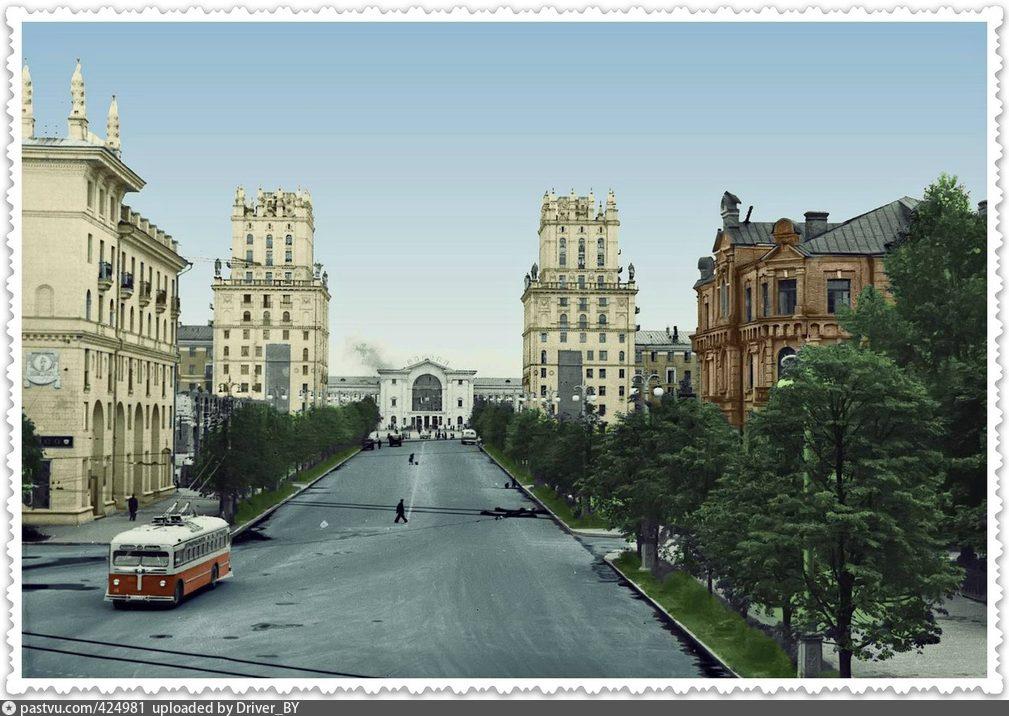 Раньше Минск был зеленее.