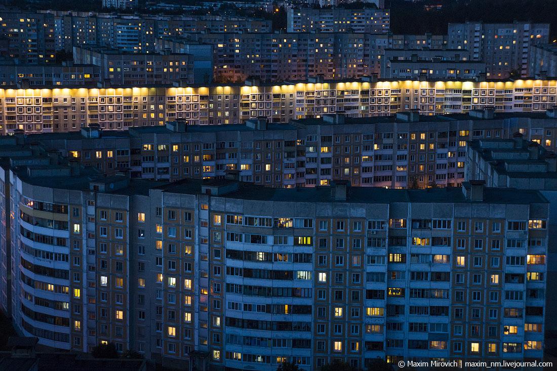 Прогулка по крышам Уручья.