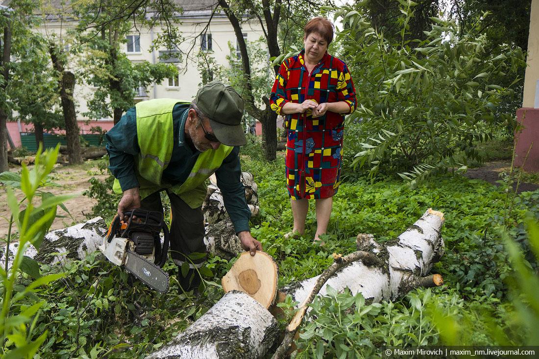 Минск после бури (много фото).