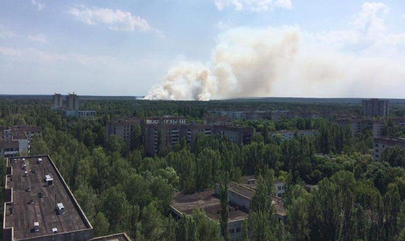 Чернобыль снова горит.