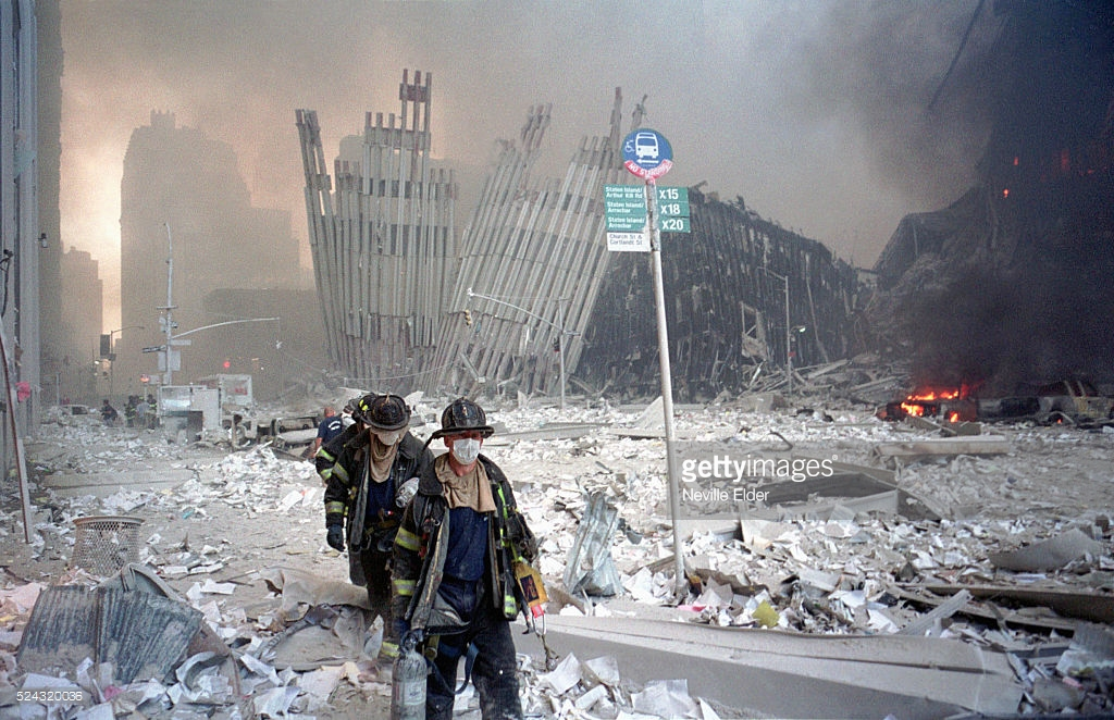 Теракт 11 сентября — как это было (фото).