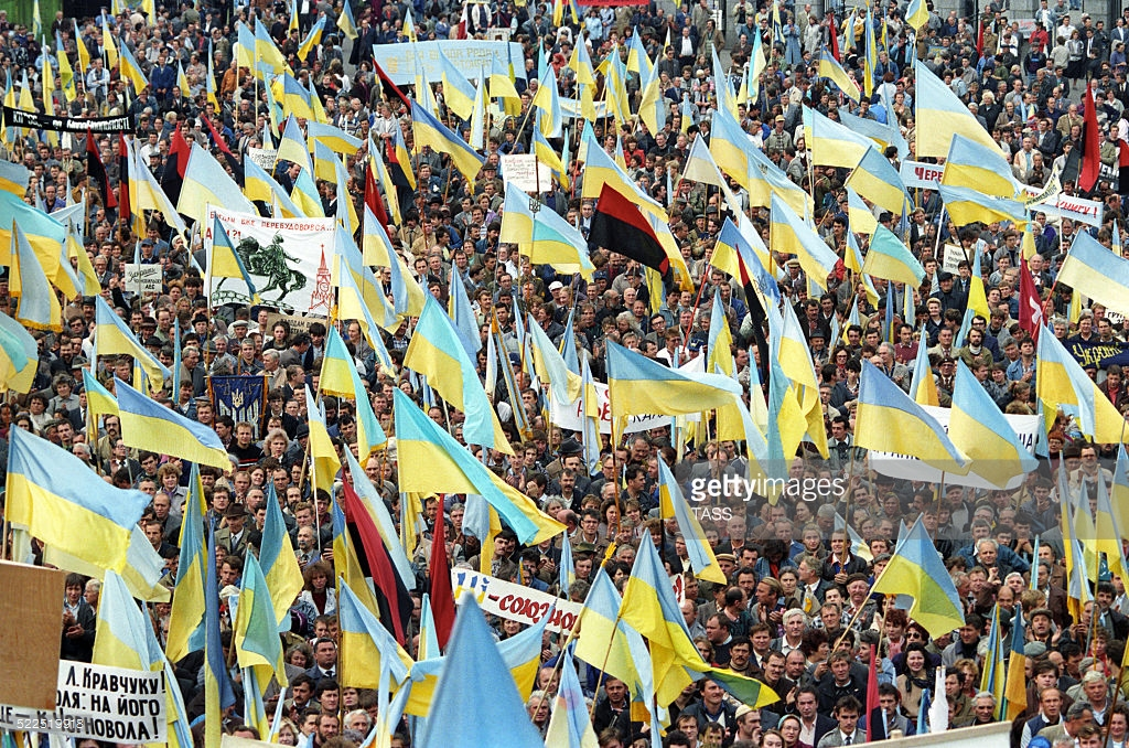 Первый киевский Майдан, как это было (фото).