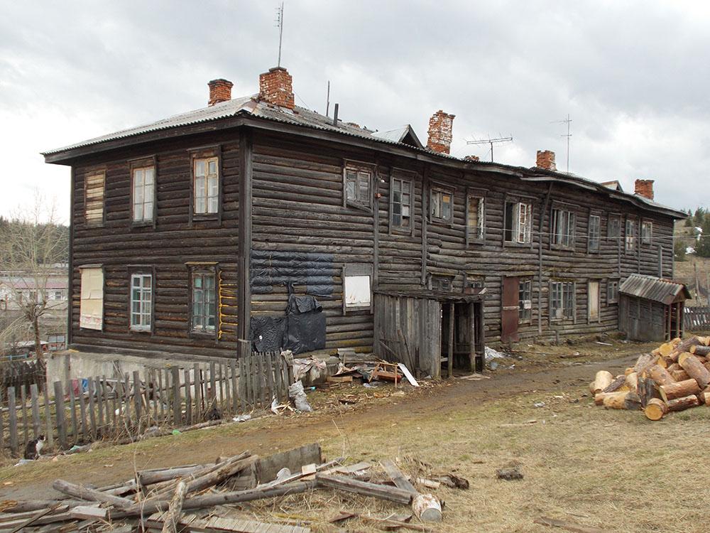 Бараки. Как жило большинство советских граждан.