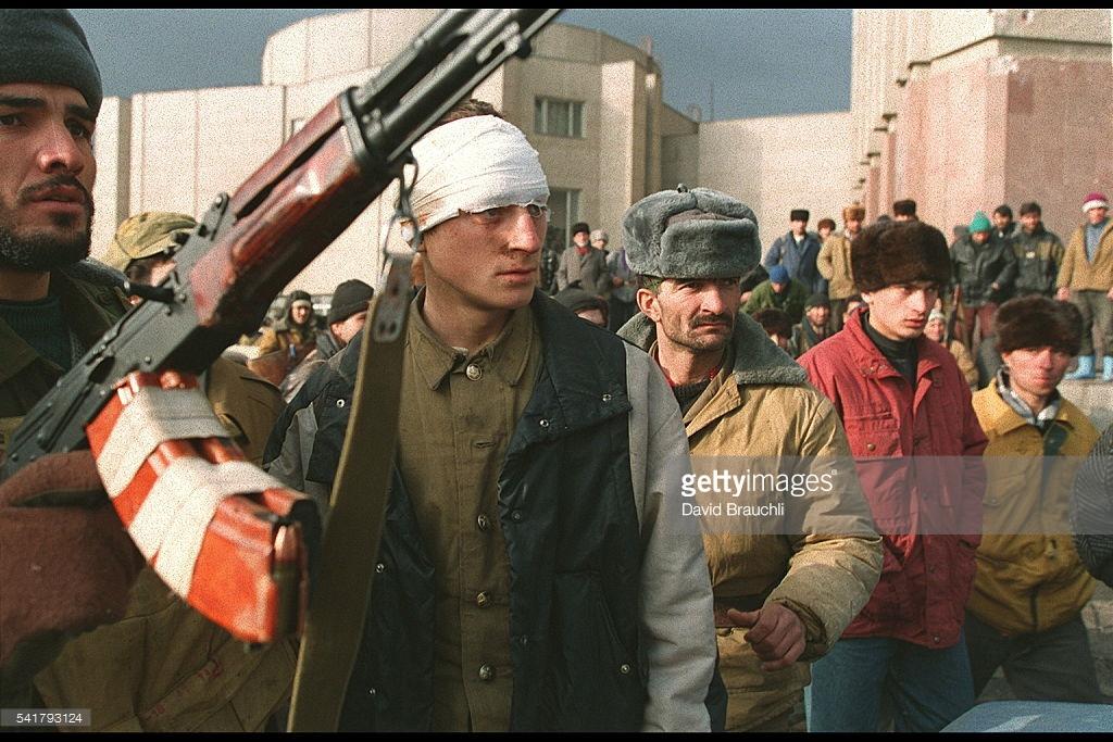 Как начиналась война в Чечне (фото).