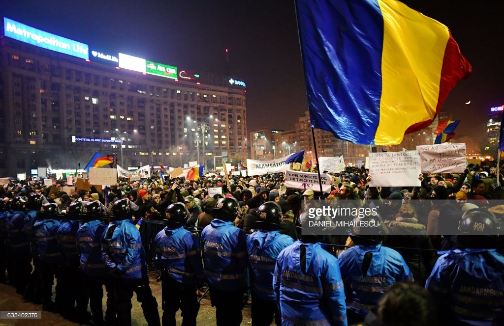В Бухаресте начинается майдан (фото).