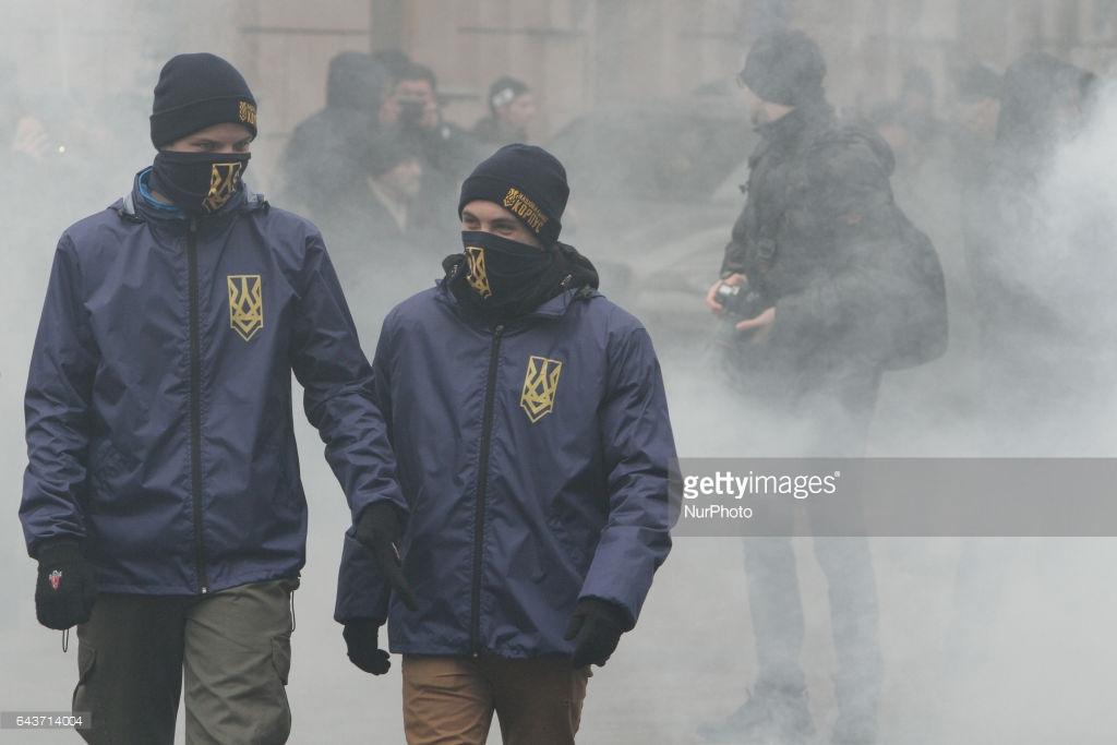 Марш украинских националистов в Киеве (фото).