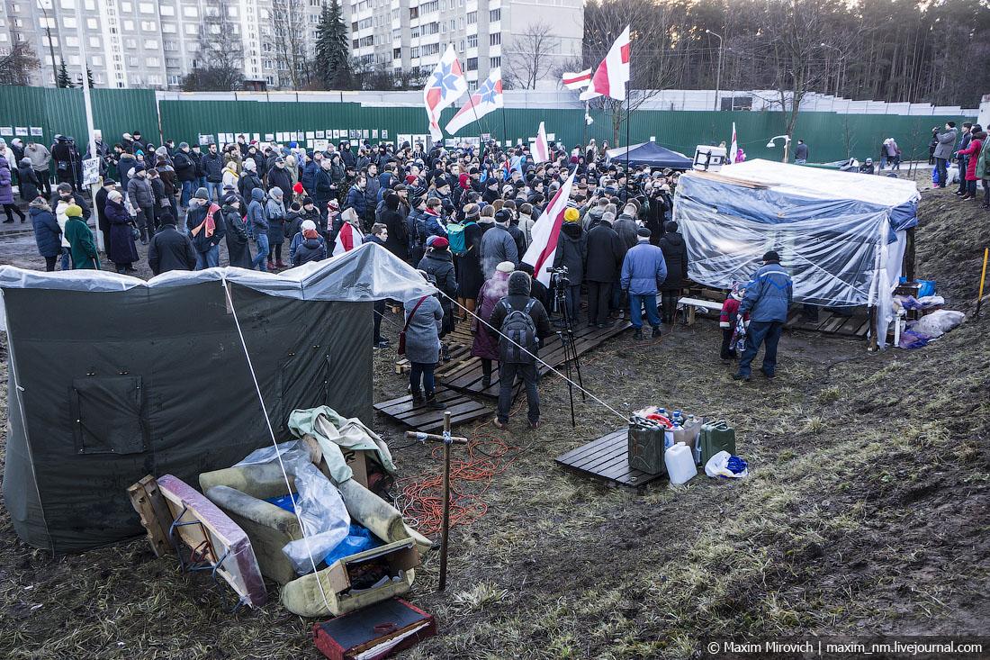 Белорусы отстояли Куропаты (фото).