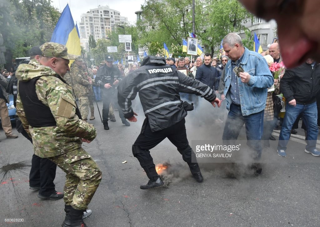 Как в Киеве 9 мая отмечали (фото).