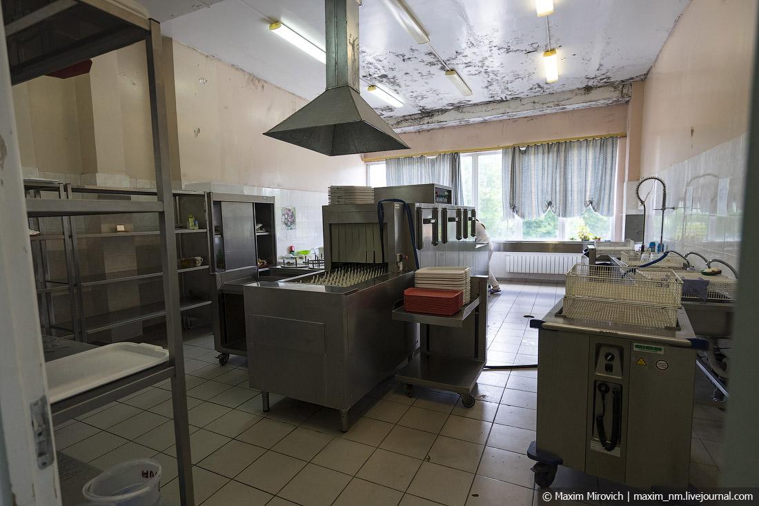 Столовая на на Чернобыльской АЭС.