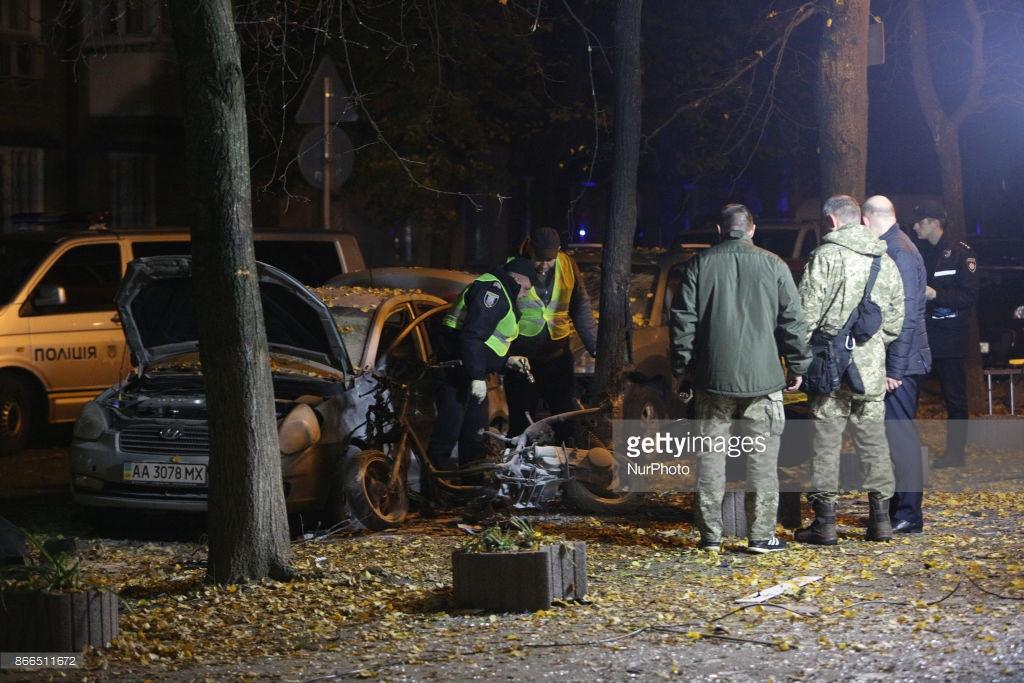 Как в Киеве взрывают депутатов (фото).