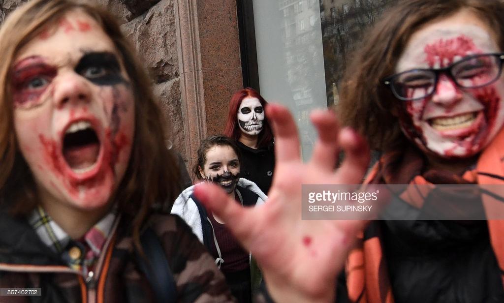 «Марш зомби» в Киеве (фото).