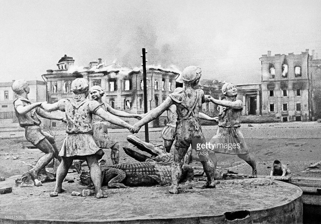 Жизнь в послевоенном Сталинграде (фото).
