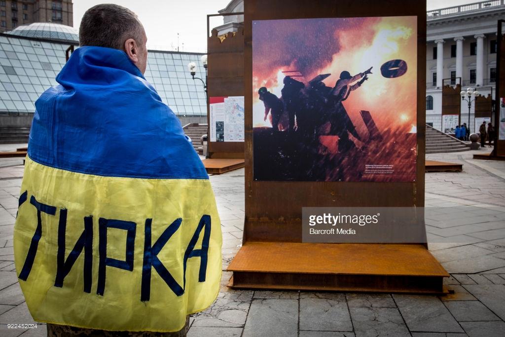 Украина вспоминает Евромайдан (фото).