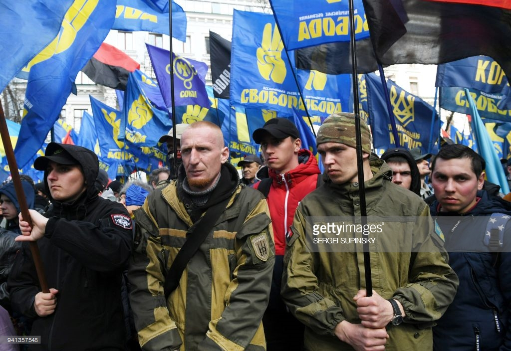 Ultra-right marching in Kiev (photo).march, oligarchs, Freedom, Participants, far right, parties, parties, Subscribe, about, man, Column, interestingly, also, stadium, participants, thousands, leaders, Kiev, friends, Dynamo