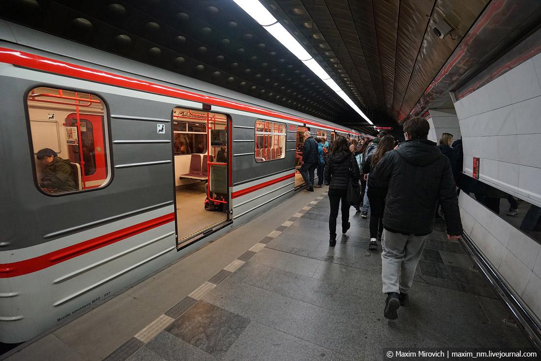 Прогулка по метро Праги.