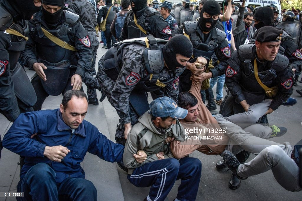 What are the Armenians there?April, Armenia, protesting, against, Yerevan, by police, Subscribe, Sargisyan, who, streets, protest, Yerevan, Nikol, now, can, cordon, police, prime minister, dozens, some